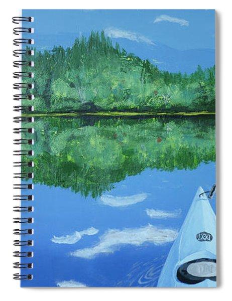 Still Reflective Spiral Notebook