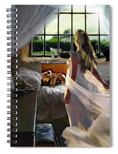 Spiral Notebook featuring the photograph Still Twirling In My Room by Alison Frank