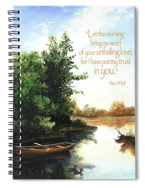Still Waters Spiral Notebook by Clint Hansen