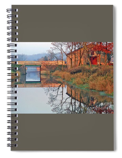 Still Waters On The Canal Spiral Notebook