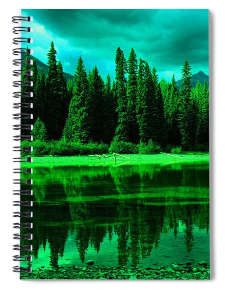 Stillwater Reflecting Trees And Mountains Spiral Notebook