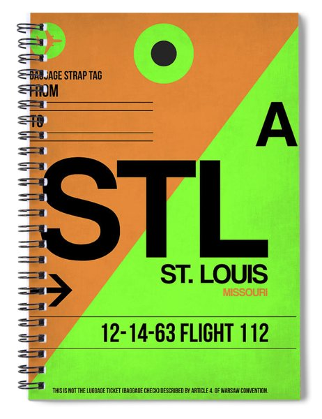 Stl St. Louis Luggage Tag I Spiral Notebook