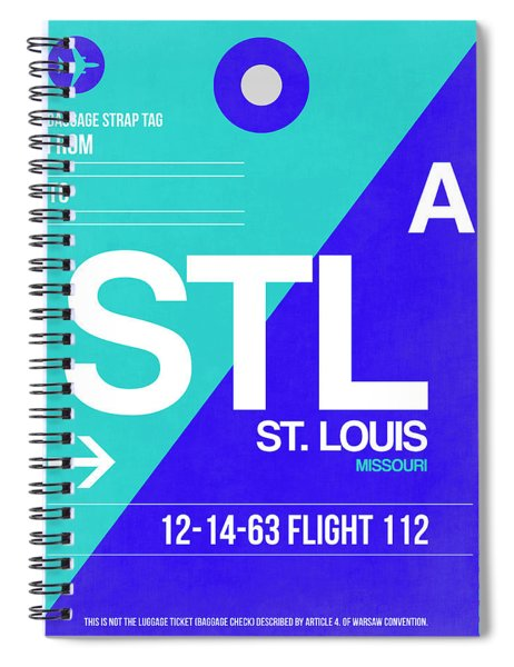 Stl St. Louis Luggage Tag II Spiral Notebook