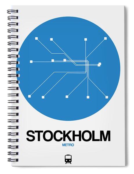 Stockholm Blue Subway Map Spiral Notebook