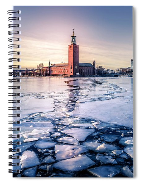 Stockholm City Hall In Winter Spiral Notebook