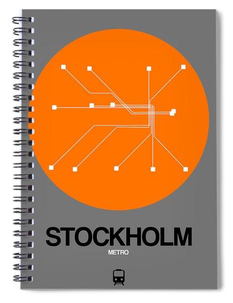 Stockholm Orange Subway Map Spiral Notebook