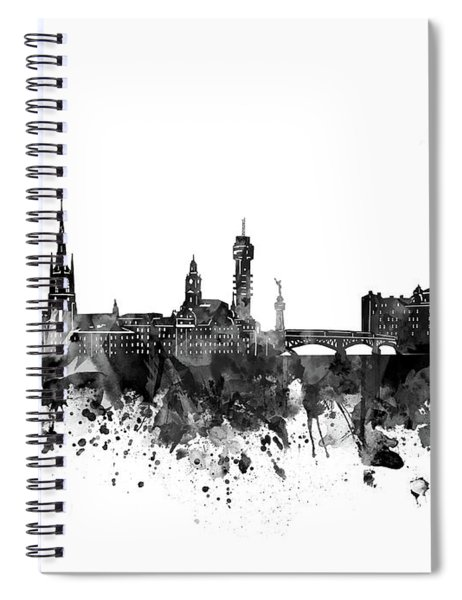 Stockholm Skyline Bw Spiral Notebook