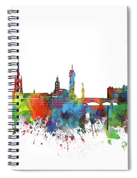 Stockholm Skyline Watercolor 2 Spiral Notebook