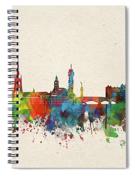 Stockholm Skyline Watercolor  Spiral Notebook