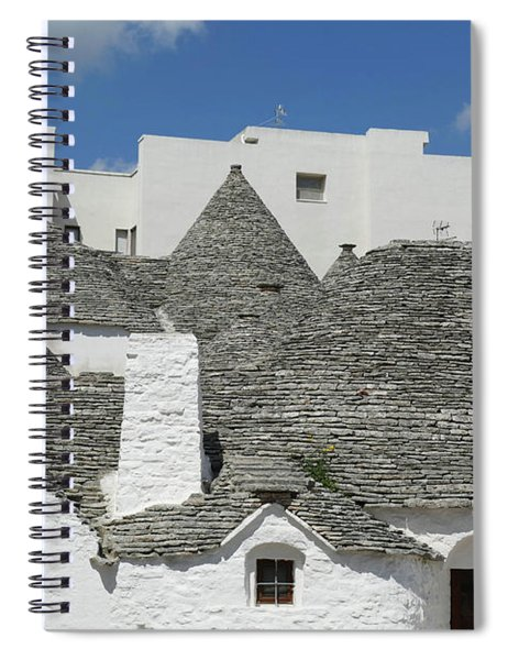 Stone Coned Rooves Of Trulli Houses Spiral Notebook