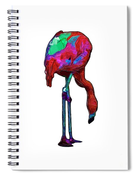 Stooped Over Abstract Flamingo Spiral Notebook