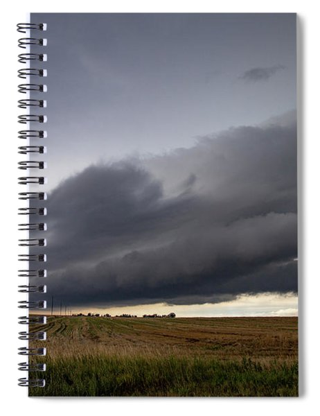 Spiral Notebook featuring the photograph Storm Chasin In Nader Alley 004 by NebraskaSC