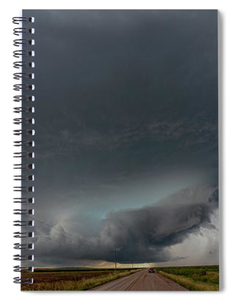 Spiral Notebook featuring the photograph Storm Chasin In Nader Alley 008 by NebraskaSC