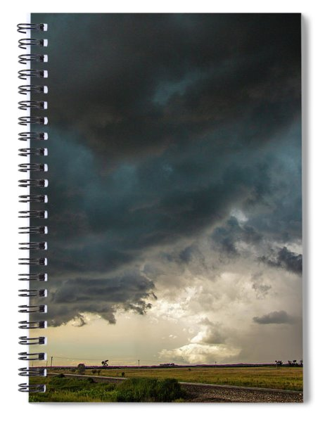 Spiral Notebook featuring the photograph Storm Chasin In Nader Alley 012 by NebraskaSC
