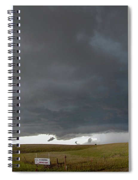 Spiral Notebook featuring the photograph Storm Chasin In Nader Alley 016 by NebraskaSC