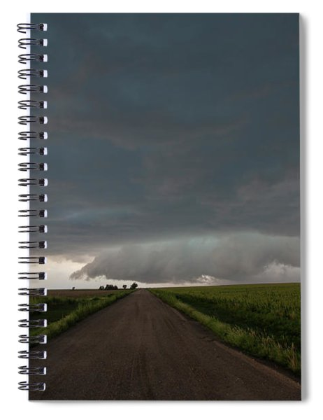 Spiral Notebook featuring the photograph Storm Chasin In Nader Alley 025 by NebraskaSC