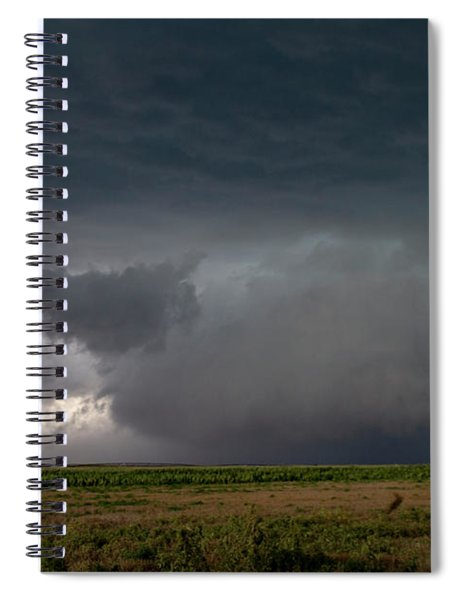 Spiral Notebook featuring the photograph Storm Chasin In Nader Alley 030 by NebraskaSC