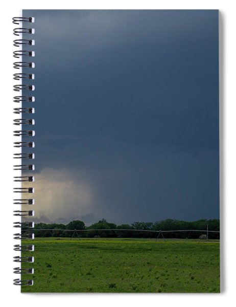 Storm Chasing West South Central Nebraska 002 Spiral Notebook