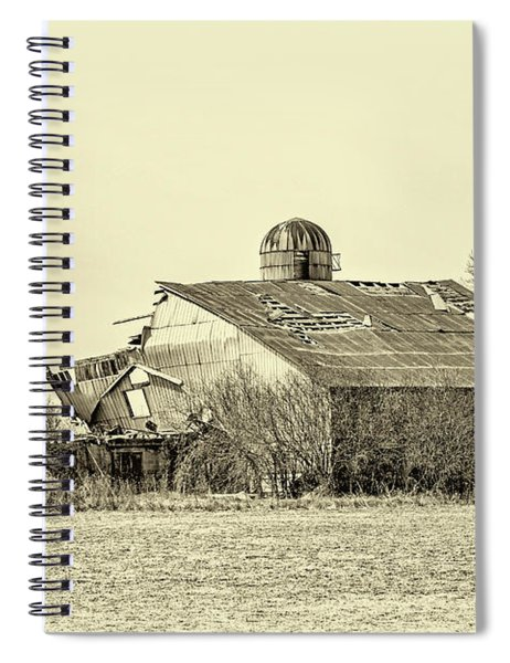 Storm Damage 3 Sepia Spiral Notebook