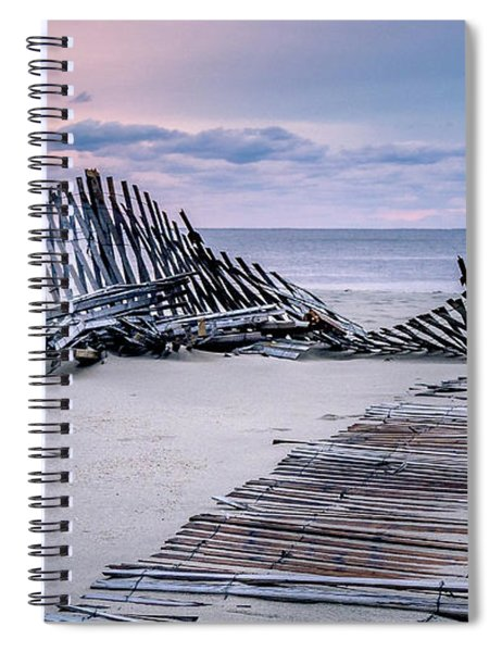 Storm Fence Sunrise Spiral Notebook