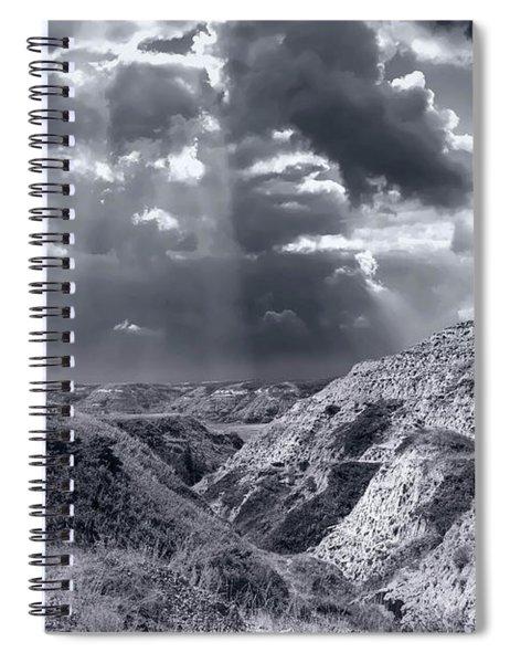 Storm Over The Badlands Spiral Notebook