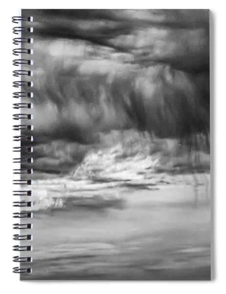 Stormy Sky In Black And White Spiral Notebook