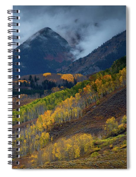 Spiral Notebook featuring the photograph Stormy Weather Over The Elks by John De Bord