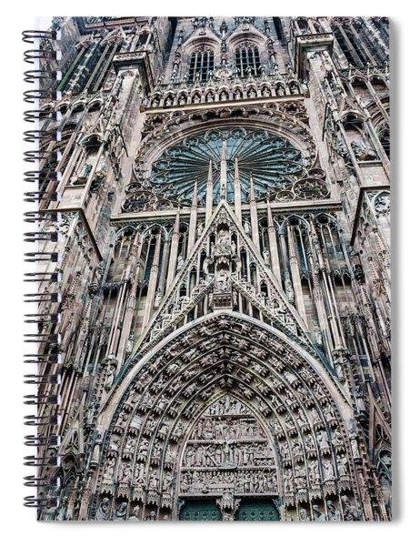 Strasbourg Cathedral Spiral Notebook
