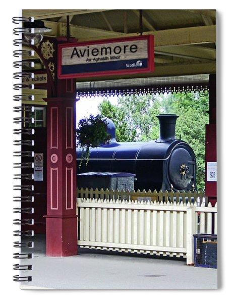 Strathspey Railway. Caladonian Railway 828 Spiral Notebook