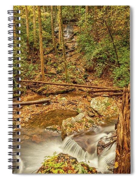 Stream Waterfalls Spiral Notebook