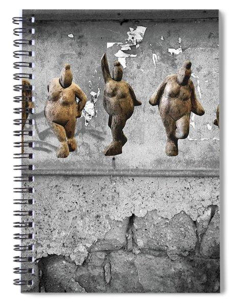 Street Art Is Art - Dancing Venus Crones Spiral Notebook