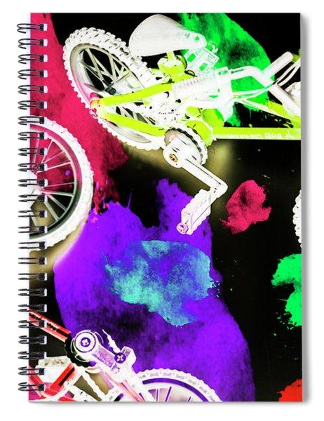 Street Bike Art Spiral Notebook