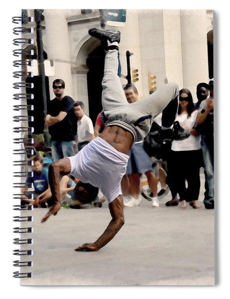 Street Dance. New York City. Spiral Notebook