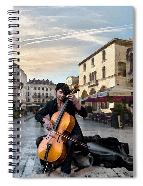 Street Music. Cello. Spiral Notebook