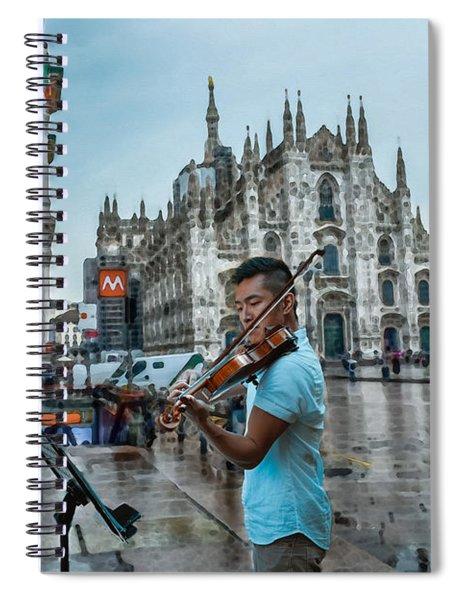 Street Music. Violin. Spiral Notebook