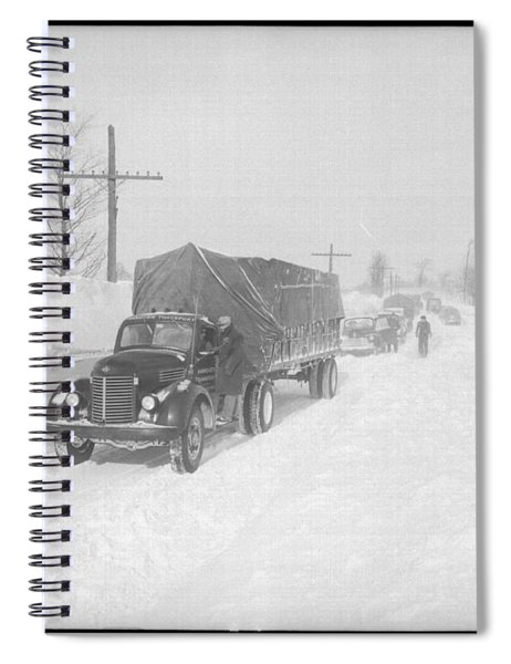 Street Scene In The Aftermath Of A Blizzard In Arthur Ontario Spiral Notebook