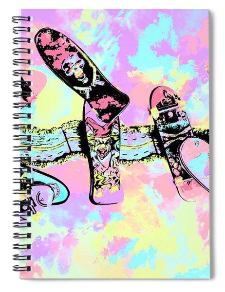 Street Sk8 Pop Art Spiral Notebook