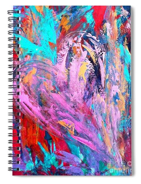 Strength Of My Heart Spiral Notebook