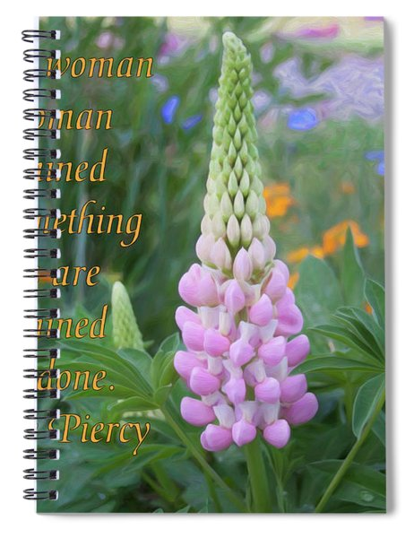 Strenth And Determination - Motivational Flower Art By Omaste Witkowski Spiral Notebook