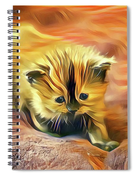 Striped Forehead Kitten Spiral Notebook
