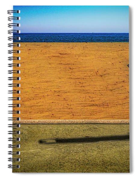 Stroller At The Beach Spiral Notebook