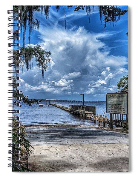 Strolling By The Dock Spiral Notebook