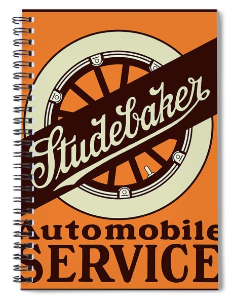 Studebaker Auto Sign Spiral Notebook