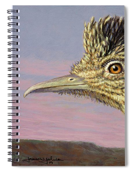 Study Of A Roadrunner Spiral Notebook by James W Johnson