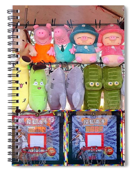 Stuffed Animals And Cartoon Characters Spiral Notebook