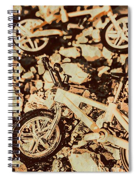 Stunt Bike Country Spiral Notebook