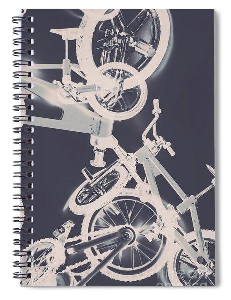 Stunt Bike Trickery Spiral Notebook