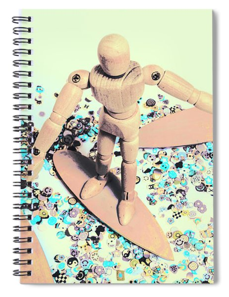 Stunt Surfer Spiral Notebook