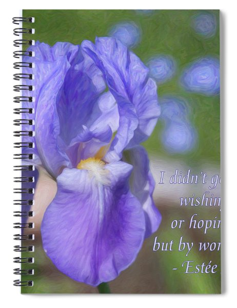 Success Starts Here - Motivational Nature Art By Omaste Witkowski Spiral Notebook