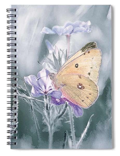 Sulfur Butterfly Spiral Notebook